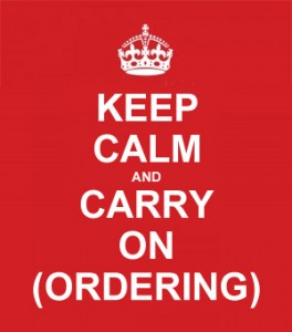 Keep Calm and Carry one ordering
