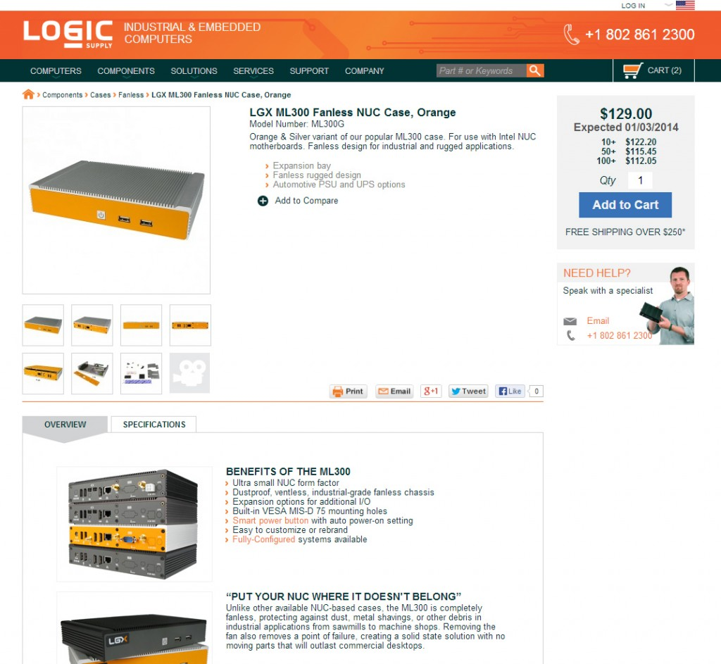 New Logic Supply Product Page