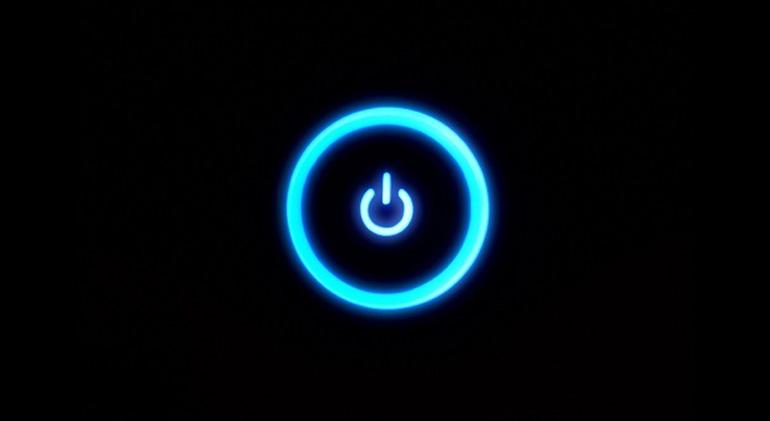 Blue Power Button