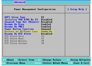 auto power-on software options