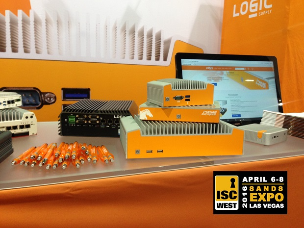 ISC West 2016 Logic Suppy booth with ISC West Logo