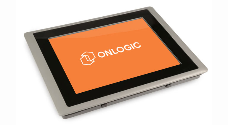Panel PC showing the OnLogic logo