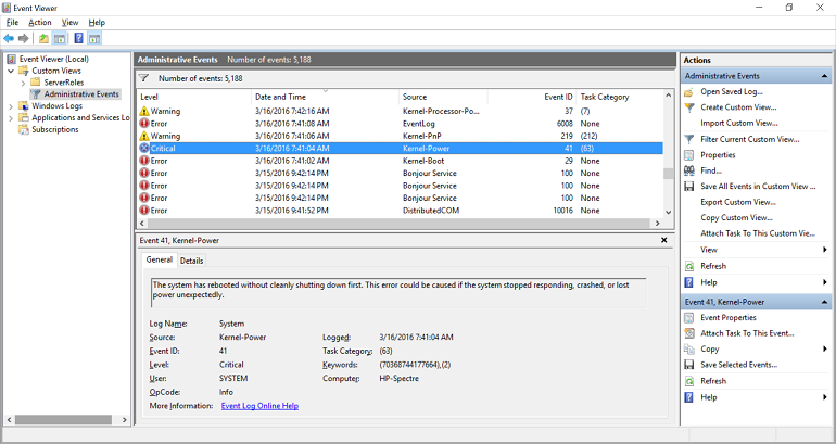 Diagnose System Trouble with Resource Monitor and Event Viewer