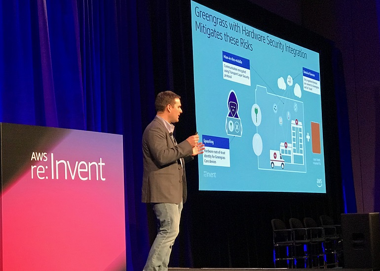James presenting at AWS reInvent 2018