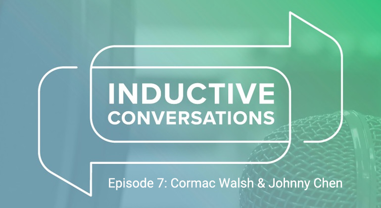 Inductive Conversations banner with OnLogic's Cormac Walsh and Johnny Chen