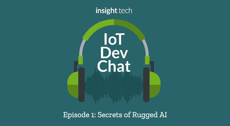 Insight.tech's IoT Dev Chat Banner announcing episode 1 with Johnny Chen from OnLogic