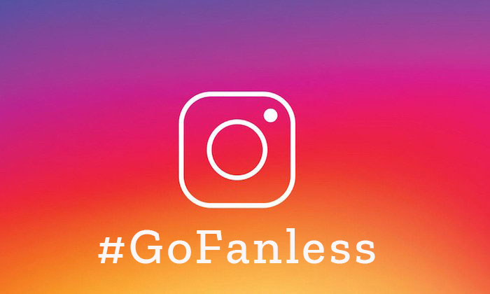 Instagram logo with #GoFanless