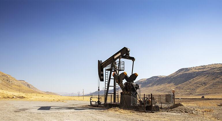 Oil rig in a tough environment