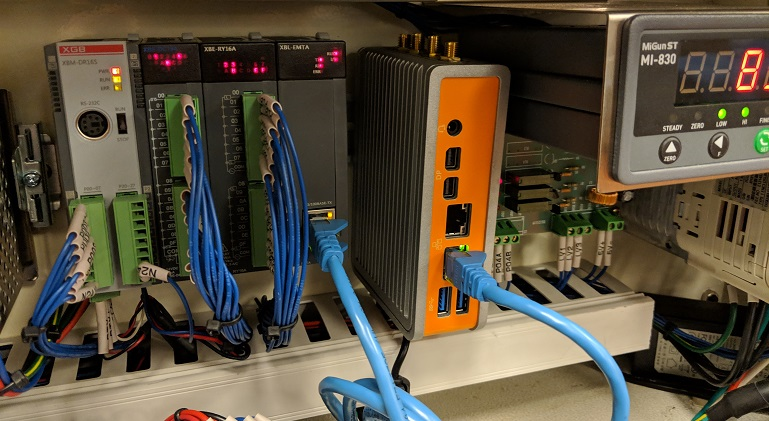 OnLogic Fanless Computer installed in a cabinet