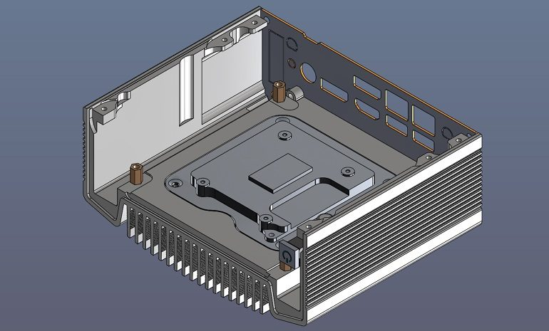 The previous version of the ML100 heatpipe.