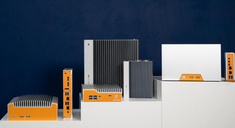 Photo of various OnLogic Industrial and Rugged Computers