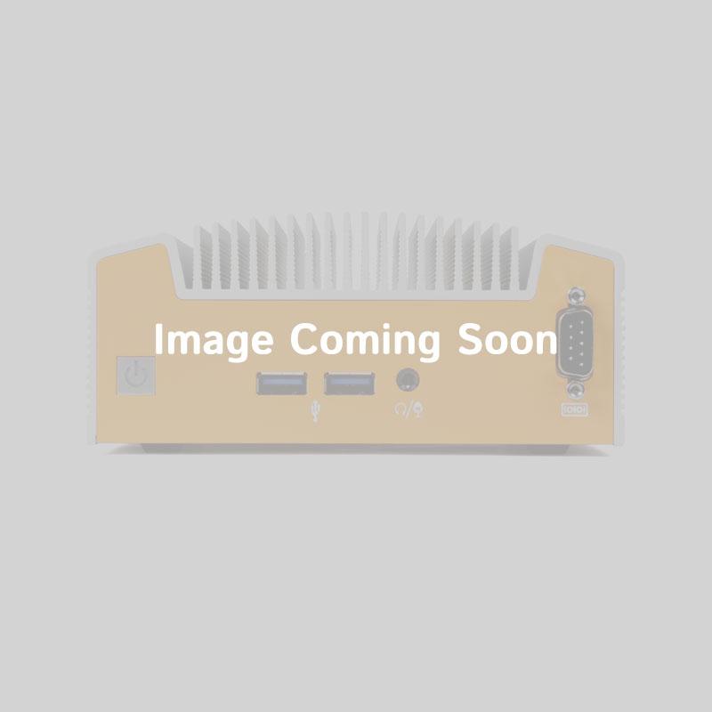 HDMI, 2 DisplayPort, VGA, 4 USB 3.0, 2 Gb LAN, 2 RS-232/422/485 COM