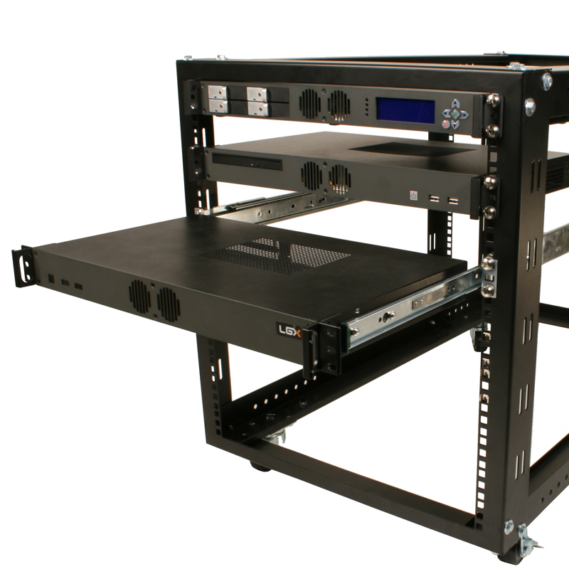Sliding Rails Shown In A Rack With Mk100 Computers