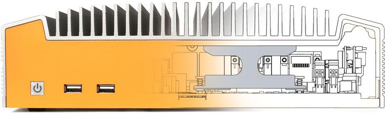 ML600G-50 binnenwireframe voor heatsink