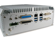 AU970 fanless rugged industrial computer backpanel IO