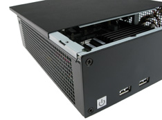 Quality designed Mini-ITX computer case reduces EMI emissions