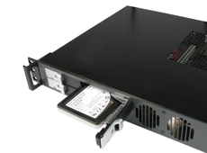 1U rackmount case with four hot-swap SSD bays
