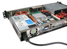 MK104 1U rackmount case with world power options