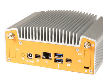 Fanless industriële NUC pc I/O
